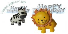 Lion Resin Topper with Happy Birthday Motto